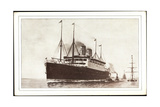 United States Lines, S.S. Cleveland, Dampfschiff Giclee Print