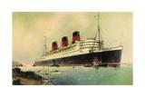 Künstler Cunard Line, R.M.S. Queen Mary, White Star Giclee Print