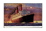 Dampfer R.M.S Caronia Auf Hoher See, Cunard Line Giclee Print
