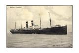 Red Star Line, Blick Auf Dampfschiff Vaderland Giclee Print