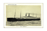 United States Lines, USL, S.S. America, Dampfschiff Giclee Print