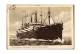 United States Lines, S.S. George Washington, Dampfer Giclee Print