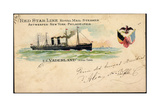Litho S. S.Vaderland, Red Star Line, Royal Mail Steamer Giclee Print