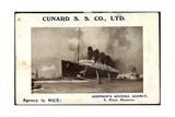 Cunard S.S. Co, R.M.S Lusitania and Mauretania Giclee Print