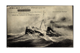 Messageries Maritimes, Paquebot, Pei Ho, Orient 1917 Giclee Print