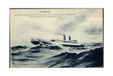 Porthos, Messageries Maritimes, Dampfer Auf See Giclee Print