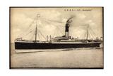 Allan Line, C.P.O.S, S.S. Grampian, Dampfschiff Giclee Print