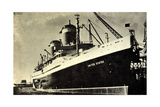 United States Lines, Usl, S.S. United States,Dampfer Giclee Print