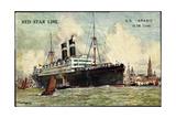 Künstler Red Star Line, S.S. Arabic, Dampfschiff Giclee Print