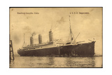 Dampfer S.S.D. Imperator, Hapag, Transatlantik Giclee Print