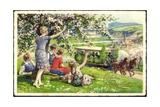 Künstler Glückwunsch Pfingsten, Menschen, Kutsche Giclee Print
