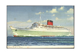 Cunard Line, R.M.S. Caronia, Dampfschiff in Fahrt Giclee Print