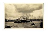 Hamburger Hafen, United States Lines, Dampfer Resolute Giclee Print