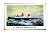 United States Lines, S.S. United States, Liner Giclee Print