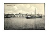 Emmerich Am Rhein, Dampfer, Blick Zur Kirche Giclee Print