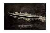 Dampfer S.S. Nieuw Amsterdam, Holland America Line Giclee Print