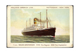 Holland America Line, T.S.S Nieuw Amsterdam, Steamer Giclee Print