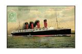 Cunard Line, Turbine Liner Lusitania, Dampfer Giclee Print