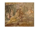Fresco Depicting Triclinium Scene, from Pompei, Italy Giclee Print