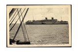 Ile De Re, Transatlantique Reina Pacifico, Dampfer Giclee Print