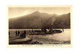Aix Les Bains, Lac Du Bourget, Hautecombe, Dampfer Giclee Print