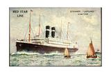 Künstler Red Star Line, Steamer Lapland, Dampfer Giclee Print