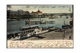 Dresden, Brühl'Sche Terrasse, Dampfer Karlsbad Giclee Print