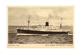 Anchor Line, Twin Screw Motor Ship Cilicia, Dampfer Giclee Print