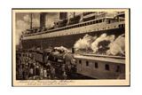 Norddeutscher Lloyd Bremen, Dampfer Columbus, Bahn Giclee Print