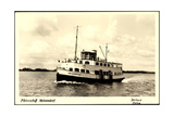 Foto Kiel,Motorschiff Heikendorf in Fahrt,Passagiere Giclee Print
