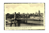 Breslau in Schlesien, Dampfer Breslau, Brücke, Dom Giclee Print