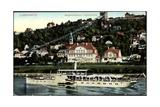 Dresden Loschwitz, Bergschwebebahn, Dampfer Karlsbad Giclee Print