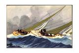 Künstler Haffner, L., Segelboote, Yachts, Wettrennen Giclee Print