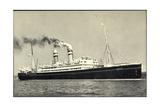Hapag, Dampfschiff S.S. Volendam Nah Am Ufer Giclee Print
