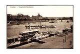 Dresden, Dampfschifflandeplatz,Dampfer Karlsbad,Elbe Giclee Print