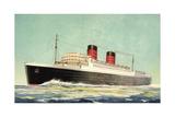 Künstler Cunard White Star, Steamer Mauretania Giclee Print