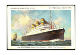 Dampfer T.S.S. Statendam, Holland America Line Giclee Print