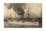M.M. L'Australien, Messageries Maritimes, Vapeur Giclee Print