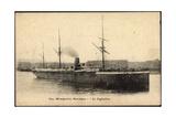Messageries Maritimes, Dampfschiff Le Saghalien Giclee Print