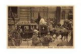 Brüssel, König Leopold Iii, Kutsche, Empfang 1934 Giclee Print