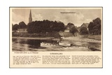 Nienburg Weser, Dampfer, Weserschlößchen, Lied Giclee Print