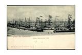Emmerich, Hafen Mit Schiffen, Weihnachten 1899 Impression giclée