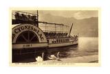Lac Du Bourget, Dampfer Cygnes Du Lac, Dent Du Chat Giclee Print