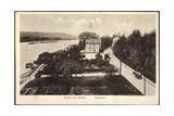 Rolandseck Remagen, Rheinpartie, Kutsche, Dampfer Giclee Print