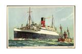 Künstler Cunard White Star Line, Ascania, Bar Giclee Print