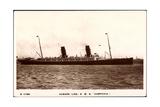 Cunard Line, R.M.S. Campania, Dampfschiff in Fahrt Giclee Print