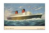 Künstler Cunard White Star Line, Queen Elisabeth Giclee Print