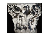 France, Autun, Cathedral of Saint-Lazare, Flight into Egypt, Capital of Romanesque Transept Giclee Print