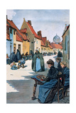 Society, Belgium, the Lacemarkers in the City of Bruges Giclee Print