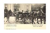 König Von Serbien in Offener Kutsche, Uniformen Giclee Print